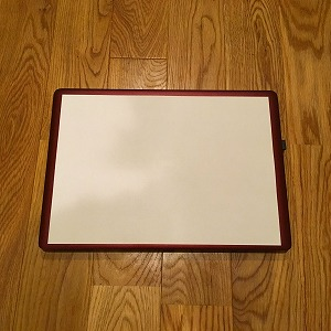 パソコンにA4用紙を載せてみた