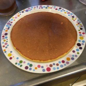焼きあがったホットケーキ